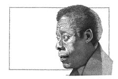 James Baldwin - I Am Not Your Negro - Lyric Portrait Word Art Drawing