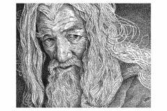 Gandalf Sir Ian KcKellen - Lord of The Rings - Lyric Portrait Word Art Drawing