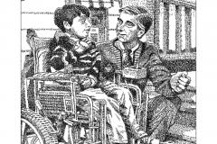 Mr. Fred Rogers & Jeff Erlanger  - Its You I Like - Lyric Portrait Word Art Drawing