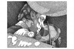 Neil Peart - Limelight  - Lyric Portrait Word Art Drawing