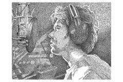 Rufus Wainwright - Zebulon  - Lyric Portrait Word Art Drawing
